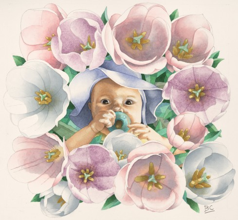 FLOWER BABY MED RES